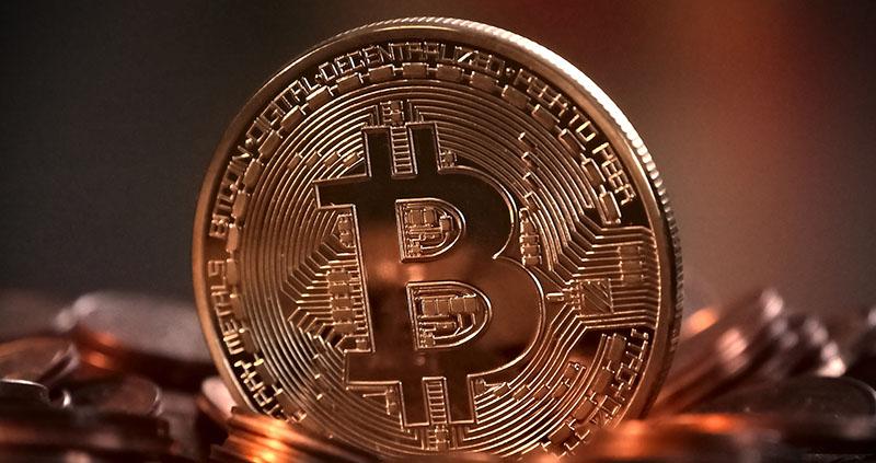 Ett bitcoin-mynt.